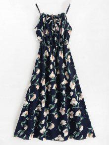 فستان ماكسي بدون أكمام - أزرق L