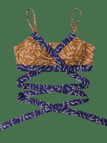 Top Wrap Imprimir Kumquat Perla Cami M Crop qznwT01