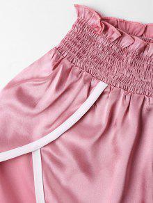 Trim Cami S Y Set Shorts Contraste Rosado Tvq7dqg