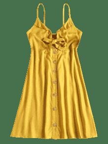 A L Vestido Tie Mini 237;nea Front Mostaza De L A Y0zrSYq