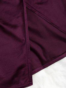 3d4eea763efa ... Cami Draped Crossover Slip Party Dress. fancy Cami Draped Crossover Slip  Party Dress - PLUM VELVET M