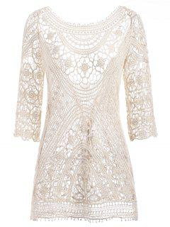 Crochet Beach Dress - Warm White