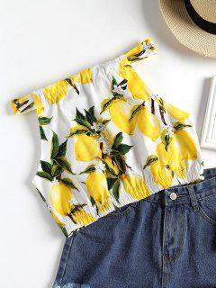 Knotted Lemons Tank Top - White L