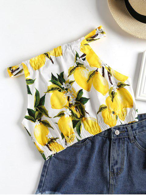 outfits Knotted Lemons Tank Top - WHITE L Mobile