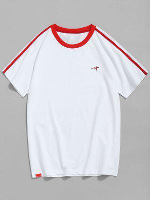 T-shirt à manches contrastantes et manches raglan