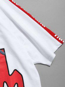 Capucha Xl Camiseta Con Asim Cord Estampada Con 243;n 233;trico Blanco f0qfzw4
