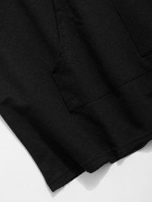 Xl Camiseta El Dobladillo Bajo Con Con Negro Cremallera En 7pTqgOx