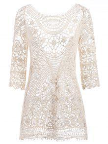 فستان كروشيه بيتش - الأبيض الدافئ