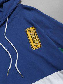Camiseta Xl Con Capucha 243;n Azul Con Cord Color Bloque De Con rCqOrv7wx
