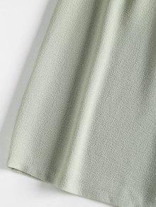 Con Lazo Verde Minivestido Delanteras Borlas Con M Salvia qxZt4p