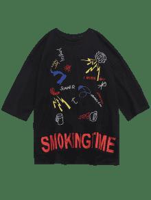 Ojales Bordado Camiseta M Y Lateral Negro Con A5qxwqFp