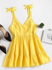 فتح العودة الكشكشة البسيطة اللباس - الأصفر L