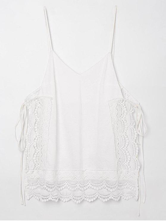outfit Tie Side Openwork Cami Top - WHITE 2XL