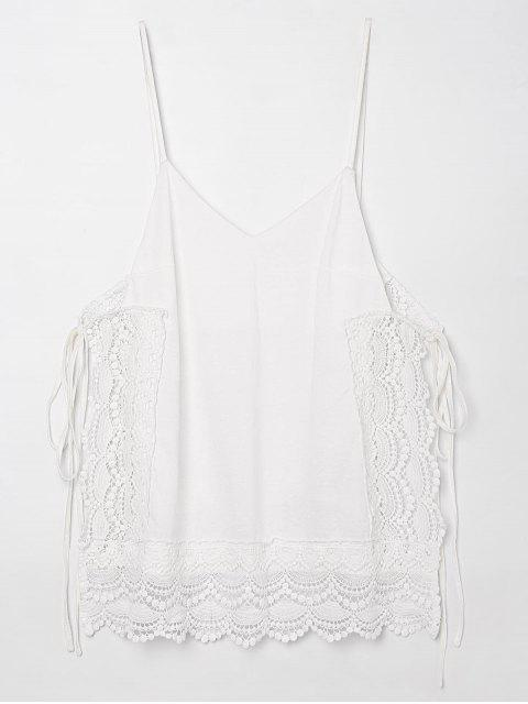 outfit Tie Side Openwork Cami Top - WHITE 2XL Mobile
