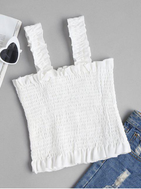 Top sin mangas con cuello cuadrado - Blanco S Mobile