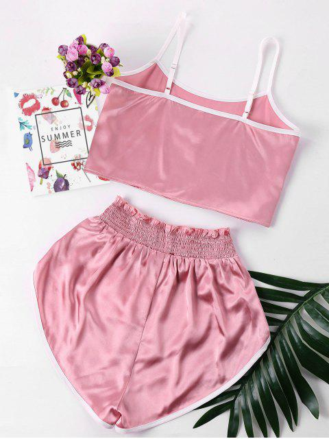 Conjunto de Cami y Shorts - Rosado S Mobile