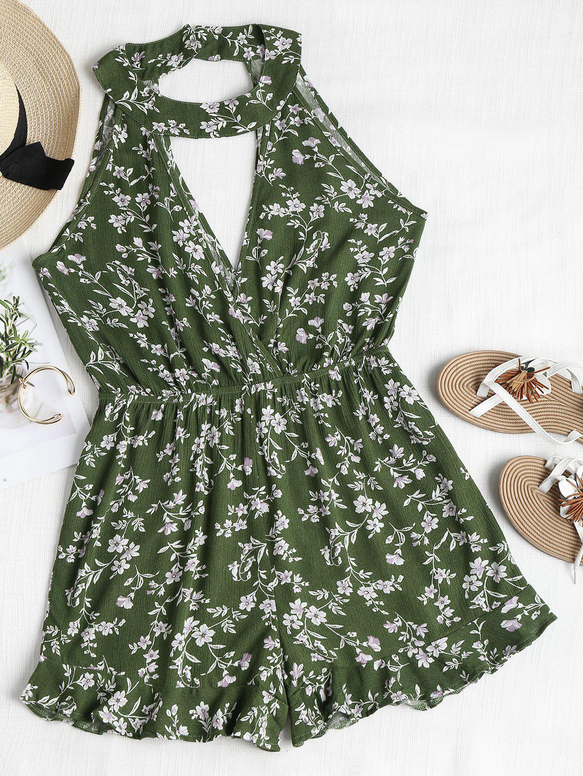 Cute Floral Cutout Cho