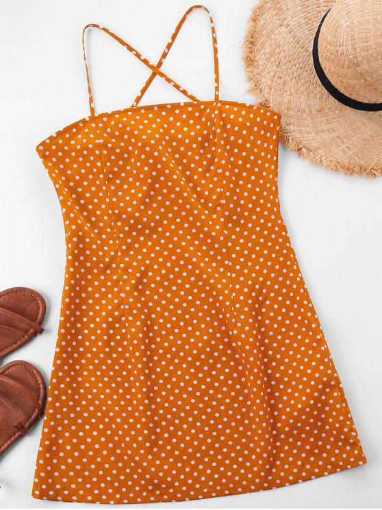shops Mini Polka Dot Slip Dress - SCHOOL BUS YELLOW XL