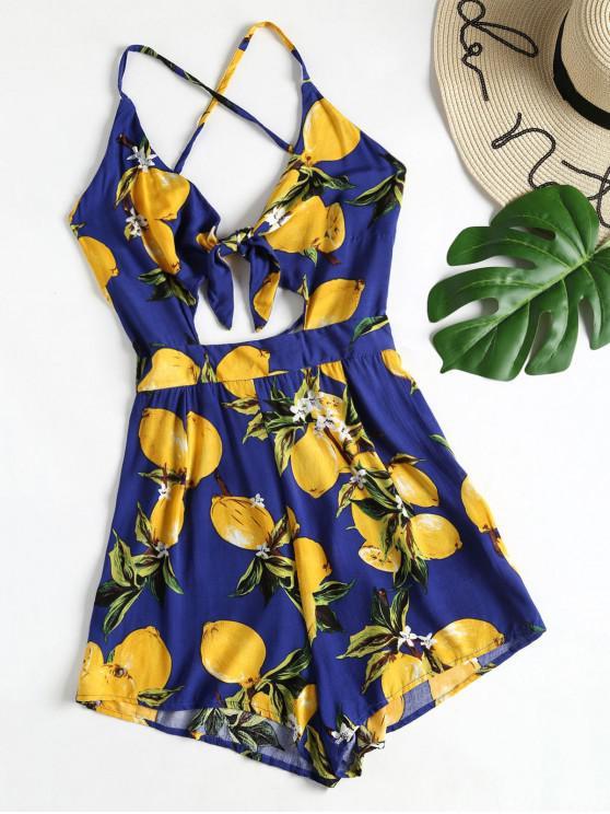 Laço da cópia do limão - Azul Marinho XL