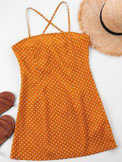 Mini Polka Dot Slip Dress - School Bus Yellow L