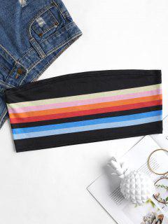 Bralette Striped Tube Top - Black M