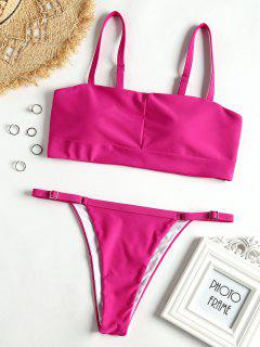 Lader Geschnittenes Tanga Bikini Set - Roda Rot  L
