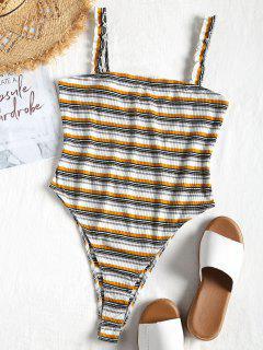 High Cut Striped Bodysuit - Multi S
