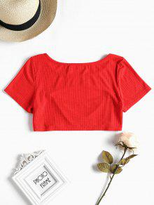 M Out Cut Crop Rojo Tee Amo rZqXRBcq