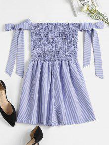 Smocked Striped Cute Romper
