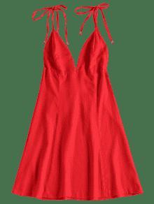 L os Rojo Mini Tirantes Amo Peque Vestido De wqAqI0H