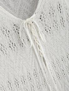 97db2552f2 23% OFF] 2019 Side Slit Maxi Crochet Beach Dress In WARM WHITE | ZAFUL