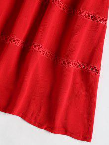 bff3c93f1be8 29% OFF   HOT  2019 Hollow Out A Line Cami Dress In RED