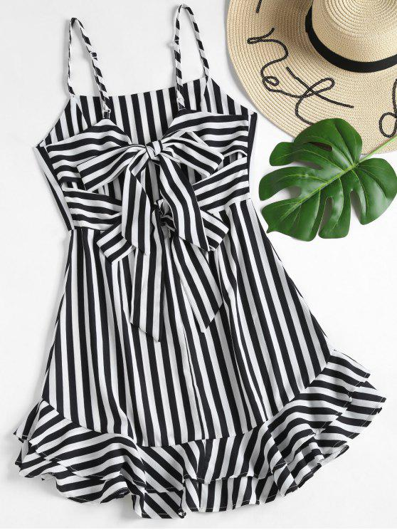 Knotted Back Striped Cami Dress