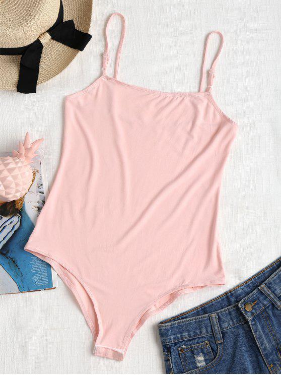 lady Cami Snap Button Bodysuit - PINK BUBBLEGUM S
