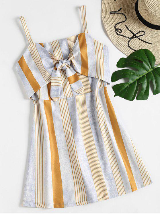 فستان مخطط من الكامي - متعدد L