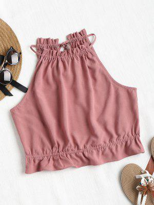 zaful Ruffles Crop Tank Top