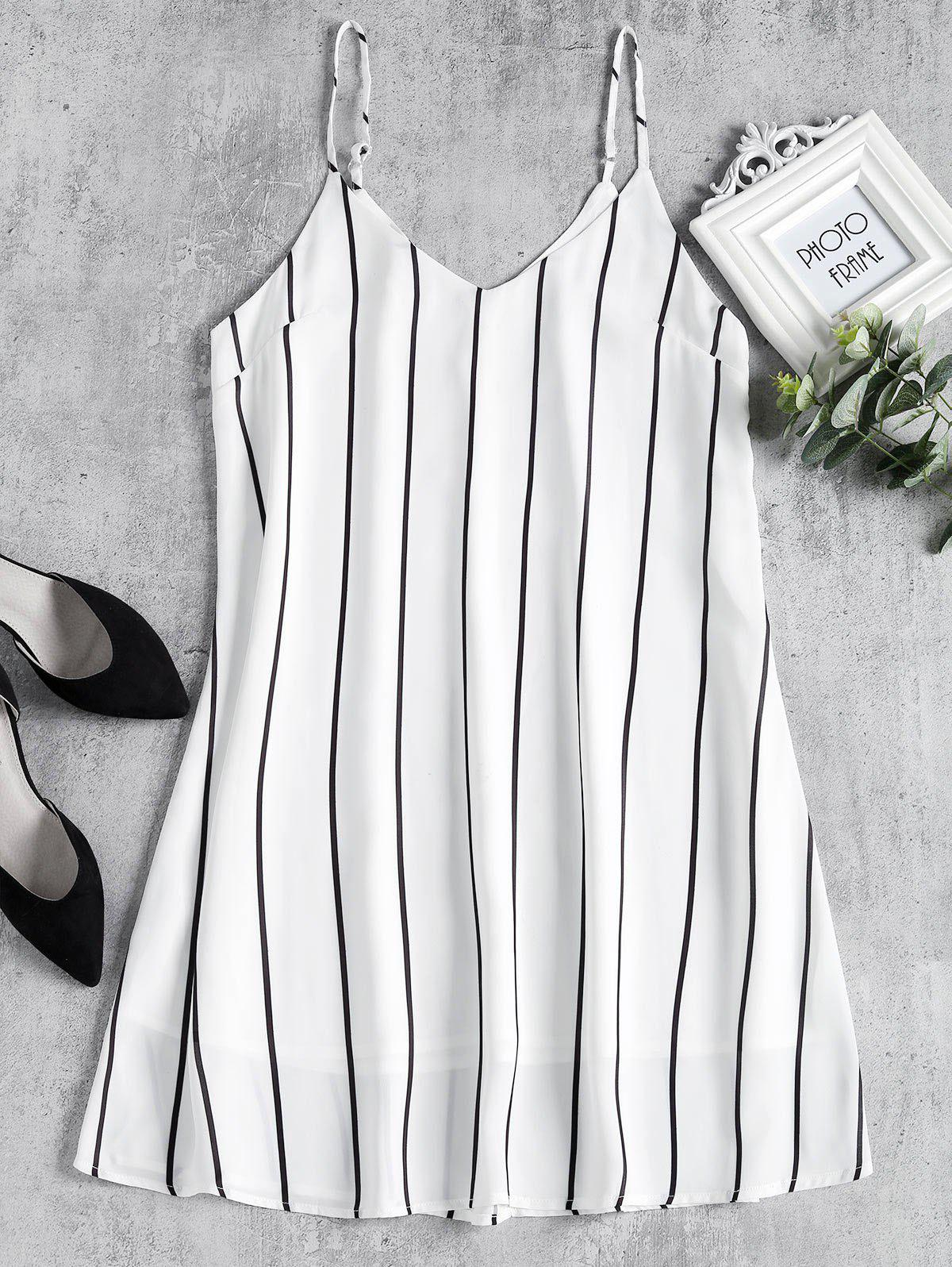 Striped Midi Shift Sli