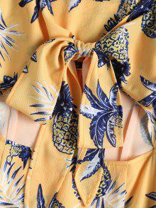 Vestido Amarillo Cuadros De Con Estampado De Sol S A De Cami a Pi rwqgzr6