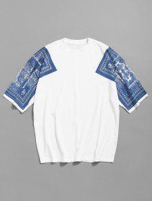 Hombros Con De Con Blanco M Estampado 243;n Estampado De Camiseta Algod 8CXXq