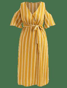 A Tama Amarilla Gran Vestido Xl De o Rayas Abeja De Dividido RwTCpxq56