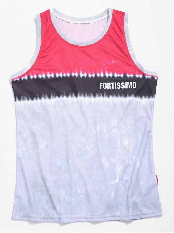 Camisola de alças do basquetebol da tintura do laço - Rosa Escuro L