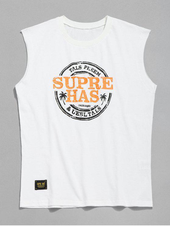 Camiseta con estampado casual - Blanco L