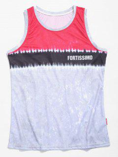 Tie Dye Basketball Tank Top - Deep Pink Xl
