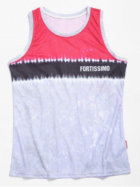 Tie Dye camiseta sin mangas de baloncesto - Rosa Oscuro L Mobile