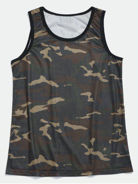 latest Mesh Camo Basketball Tank Top - CAMOUFLAGE GREEN M Mobile