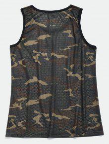 Verde Camuflaje Camiseta Mesh Baloncesto Camo De 2xl XIf6nxq