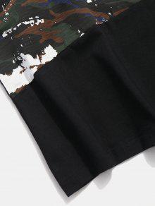 Tee Half Negro 2xl Sleeve Camo 1qnYCwzBn