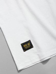 Xl Camiseta Blanco Casual Con Estampado InPYqtrwI1