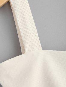 Camiseta Blanco Acanalada Cuadrada Camiseta C Acanalada wxdxq4YS6