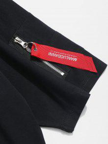 S Con Ca 237;dos Hombros Negro Cremallera Y Casual Camiseta 7Fa4p4